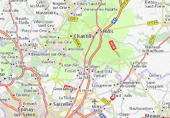 La Chapelle-en-Serval Map