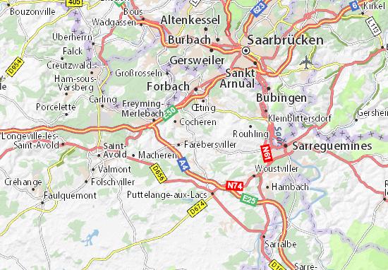 Karte Stadtplan Théding