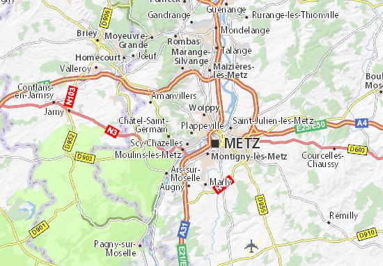 Carte-Plan Plappeville