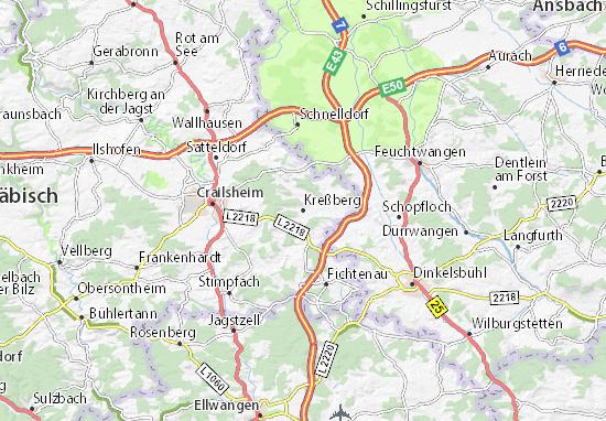 Kreßberg Map