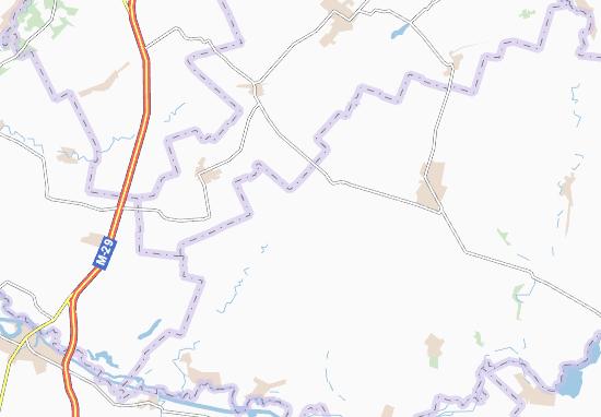 Kaart Plattegrond Novobohdanivka