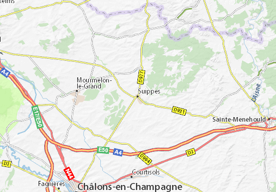 Suippes Map