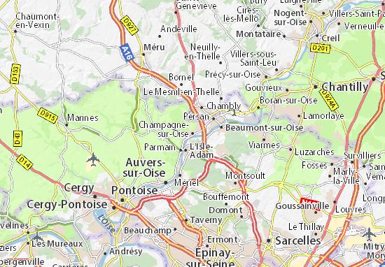 Carte-Plan Champagne-sur-Oise