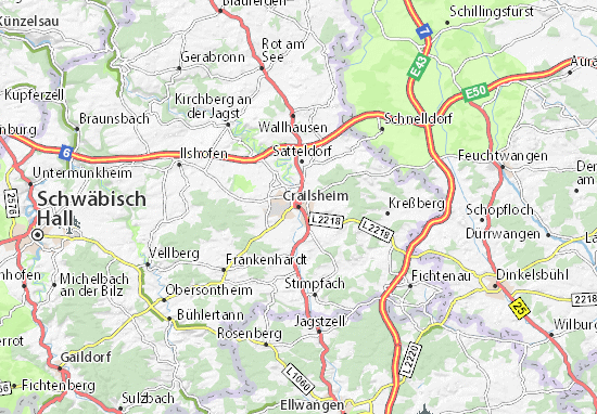 Karte Stadtplan Crailsheim