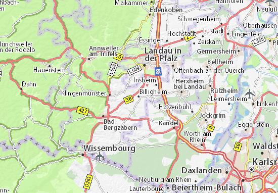 Karte Stadtplan Billigheim
