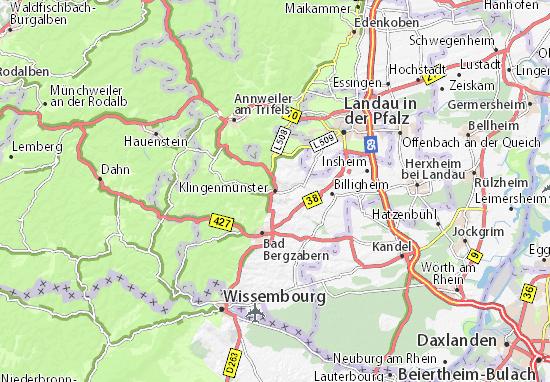 Karte Stadtplan Klingenmünster