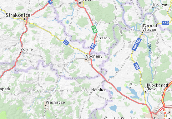 Carte-Plan Vodňany