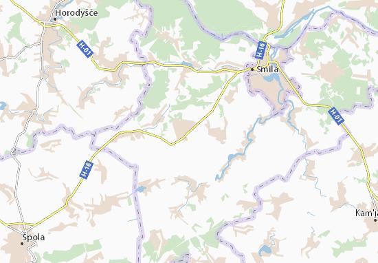 Mapa Plano Rotmistrivka