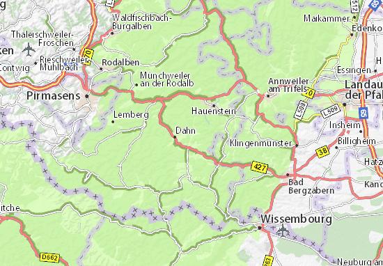 Detailed Map Of Erfweiler Erfweiler Map Viamichelin