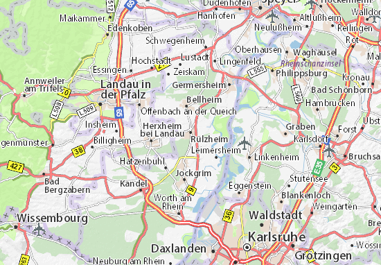 Rulzheim Map Detailed Maps For The City Of Rulzheim Viamichelin