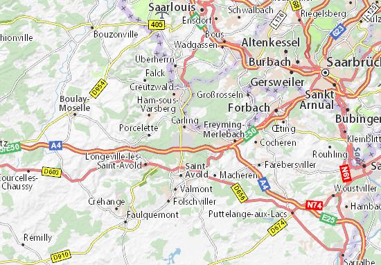 Karte Stadtplan L'Hôpital