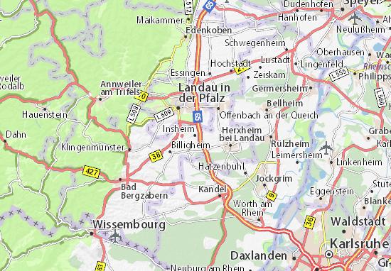 Karte Stadtplan Insheim