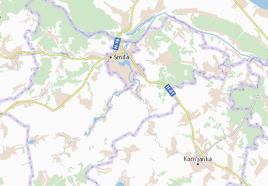 Kaart Plattegrond Velyka Yablunivka
