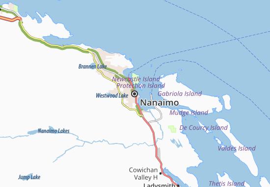 Kaart Plattegrond Nanaimo