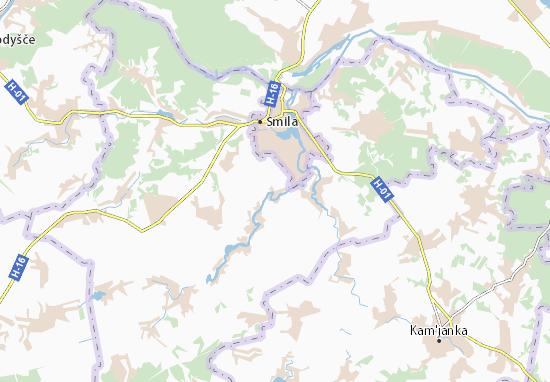 Mapa Plano Mala Smilyanka