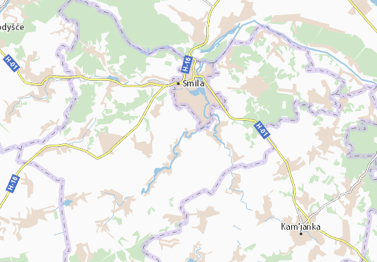 Mala Smilyanka Map