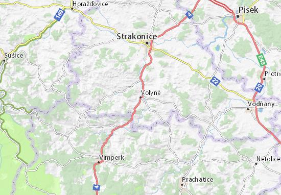 Mapa Plano Volyně