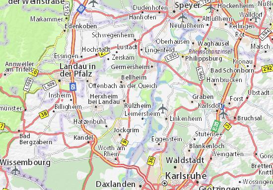Hördt Map