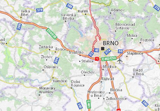 Kaart Plattegrond Troubsko