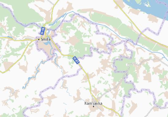Mapa Plano Petrivs'ke