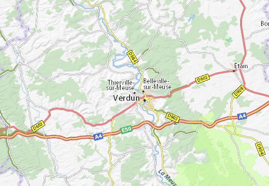 Thierville-sur-Meuse Map
