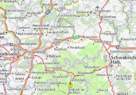 Carte-Plan Pfedelbach