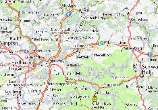 Bretzfeld Map