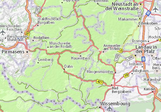 Karte Stadtplan Hauenstein