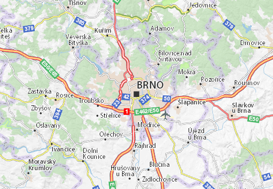 Karte Stadtplan Brno