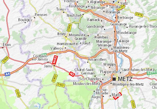 Sainte-Marie-aux-Chênes Map