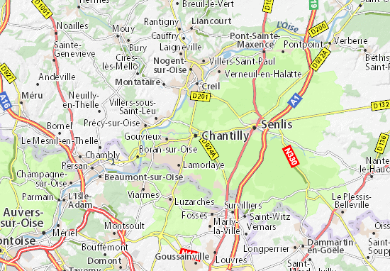 Mappe-Piantine Chantilly