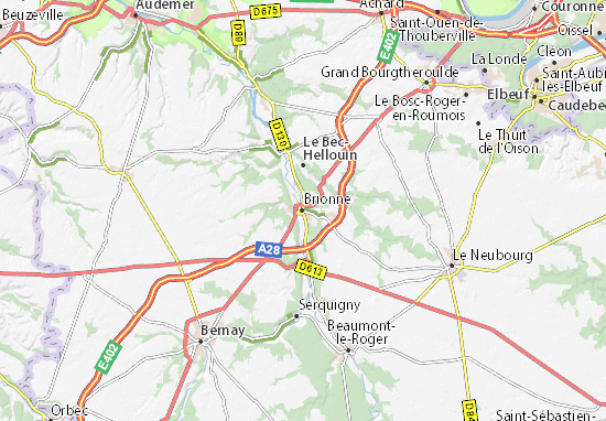 Mapa Plano Brionne