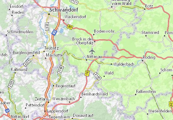 Kaart Plattegrond Nittenau