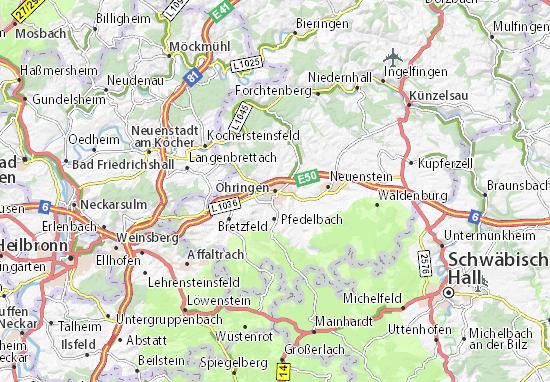 Mapas-Planos Öhringen