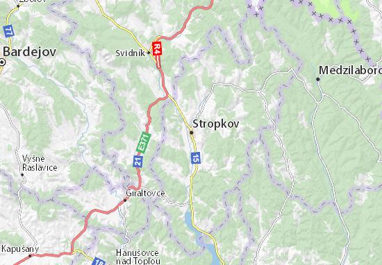 Stropkov Map