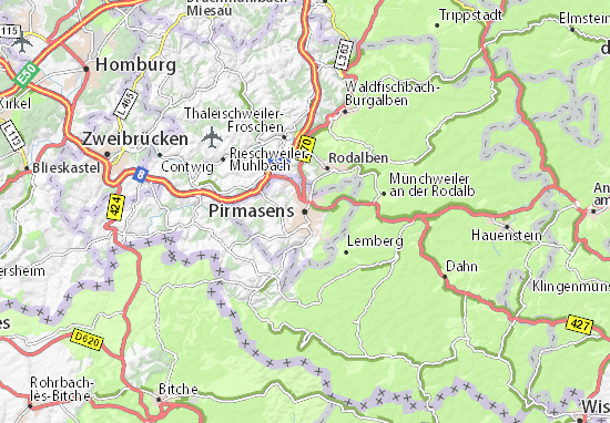 Pirmasens Map Detailed Maps For The City Of Pirmasens Viamichelin