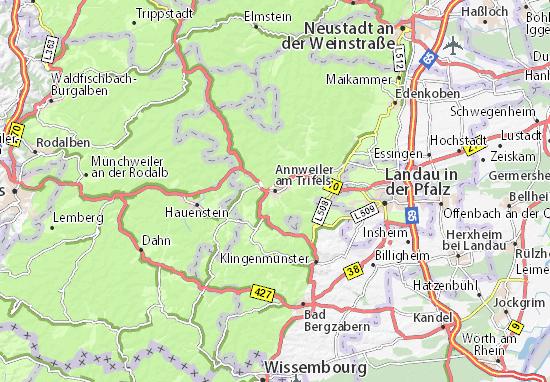 Karte Stadtplan Annweiler am Trifels