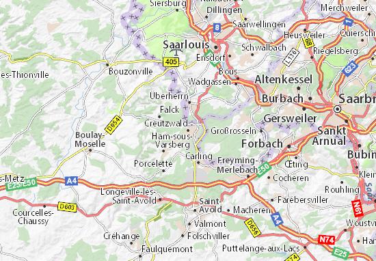 Kaart Plattegrond Creutzwald