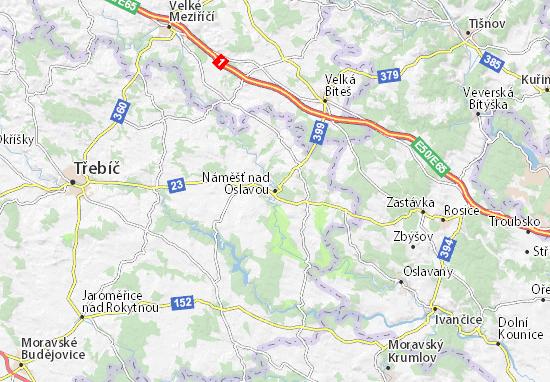 Carte-Plan Náměšť nad Oslavou