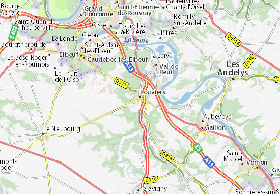 Louviers Map