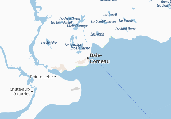 Baie-Comeau Map
