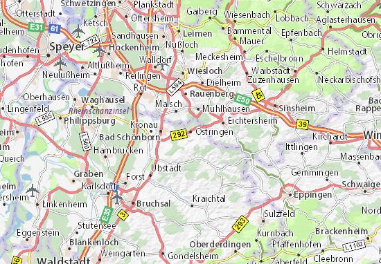 Karte Stadtplan Östringen