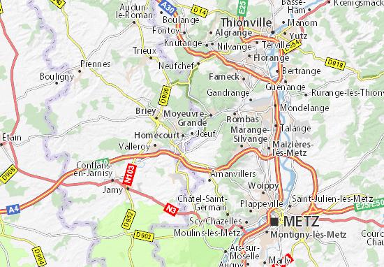 Jœuf Map