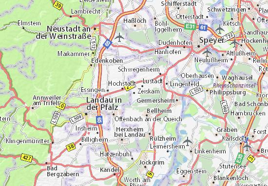 Karte Stadtplan Zeiskam