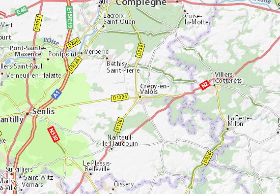 Carte-Plan Crépy-en-Valois