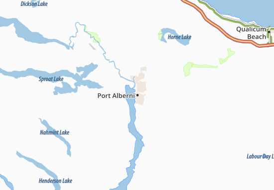 Carte-Plan Port Alberni