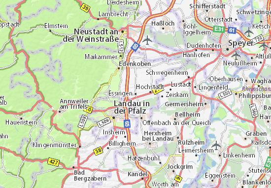 Karte Stadtplan Essingen