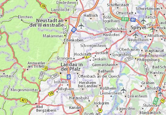 Karte Stadtplan Hochstadt