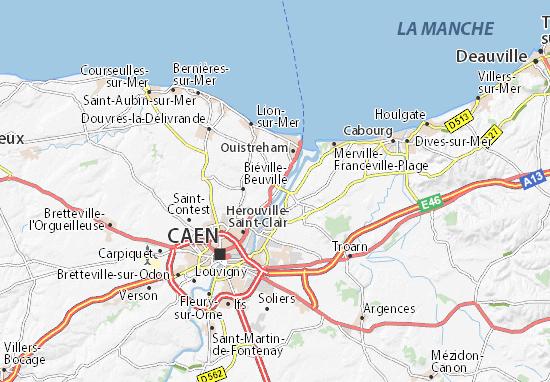 Karte Stadtplan Bénouville