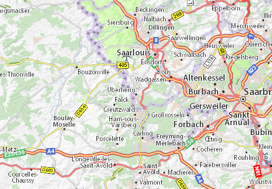 Karte Stadtplan Überherrn